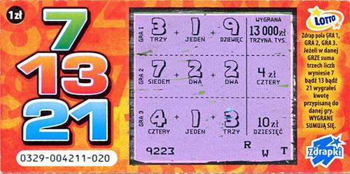 Zdrapka Lotto wygrana w Polance