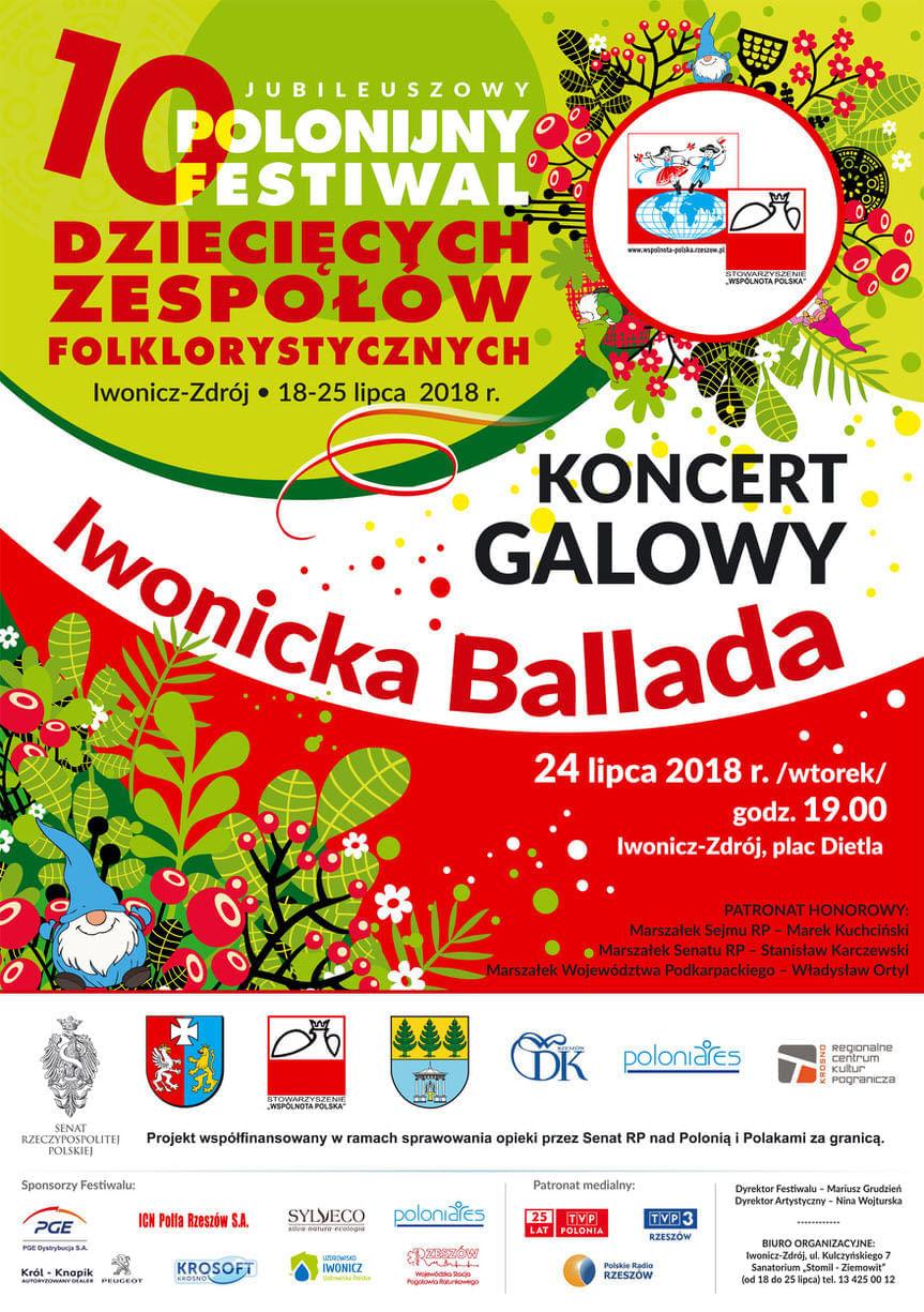10 Polonijny Festiwal Dziecięcych Zespołów Folklorystycznych - Koncert Galowy