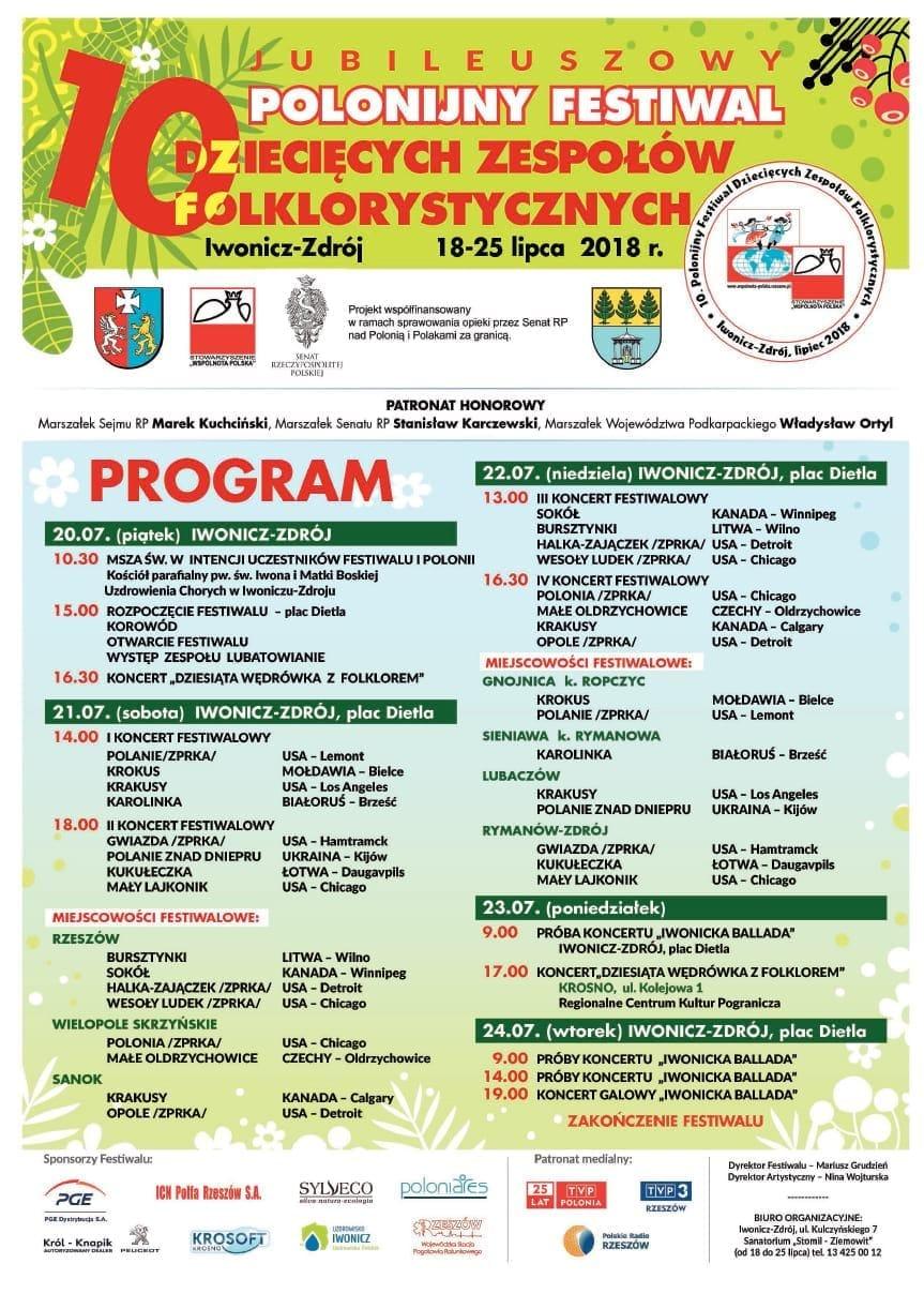 10 Polonijny Festiwal Dziecięcych Zespołów Folklorystycznych