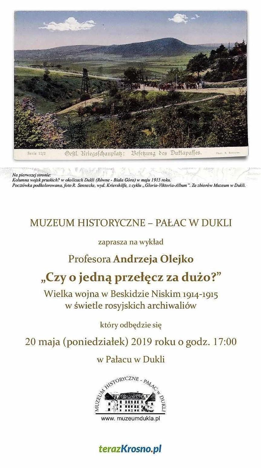 Wykład Profesora Andrzeja Olejko w Muzeum w Dukli
