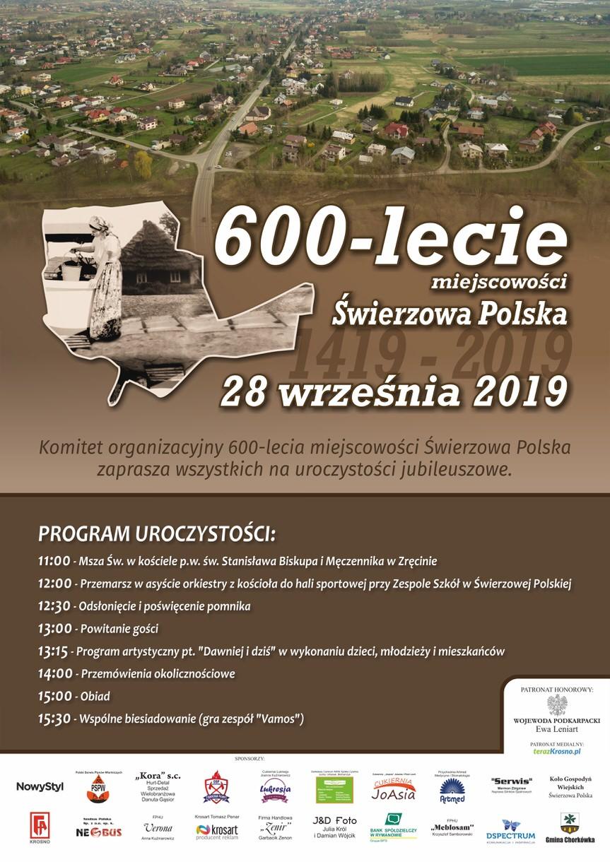 600-lecie miejscowości Świerzowa Polska