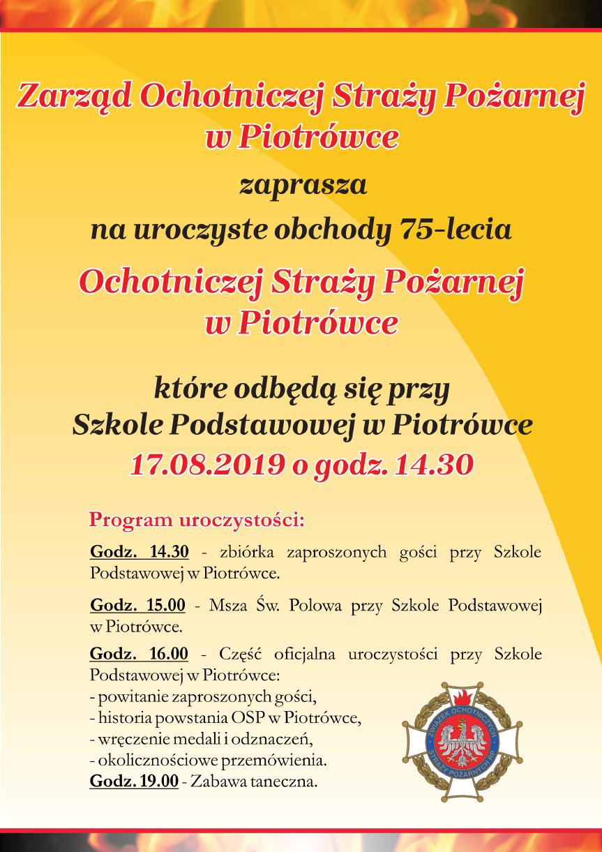 75-lecie OSP Piotrówka
