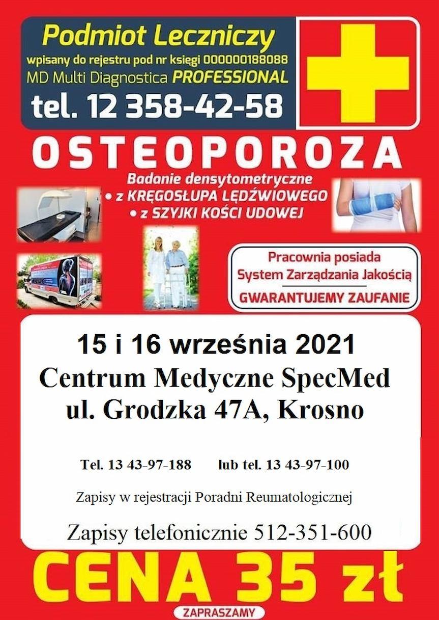 Badanie osteoporozy w Krośnie