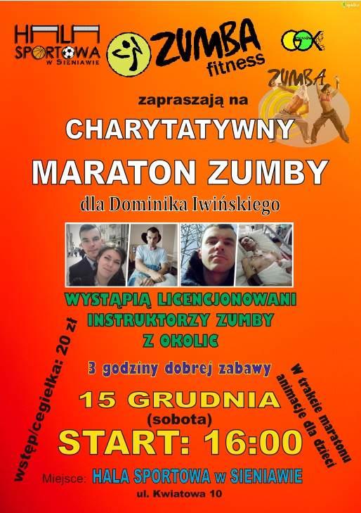 Charytatywny Maraton Zumby dla Dominika Iwińskiego