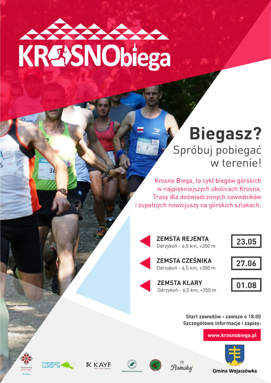 """Czwarta edycja Cyklu Biegów Górskich Krosno Biega """"Zemsta Rejenta"""""""
