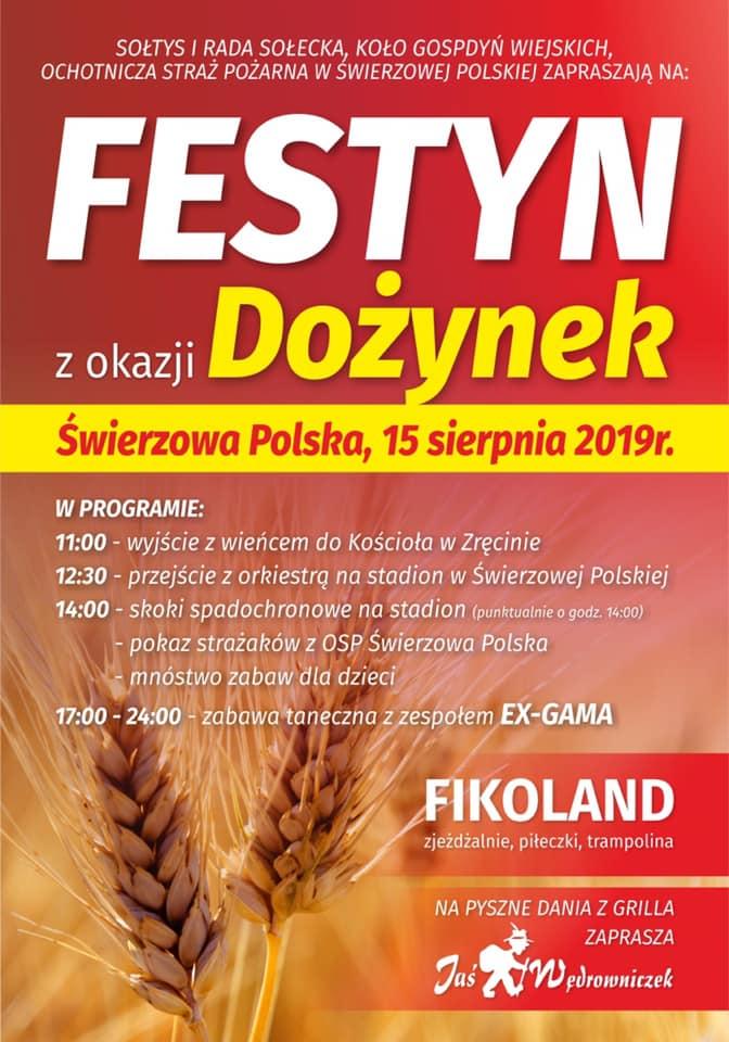 Dożynki i Festyn w Świerzowej Polskiej