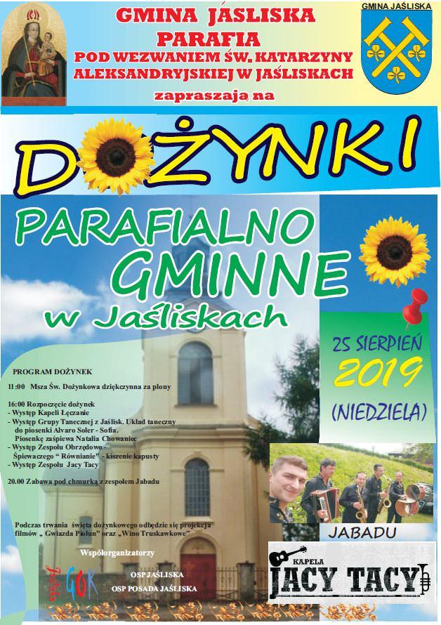 Dożynki Parafialno Gminne w Jaśliskach