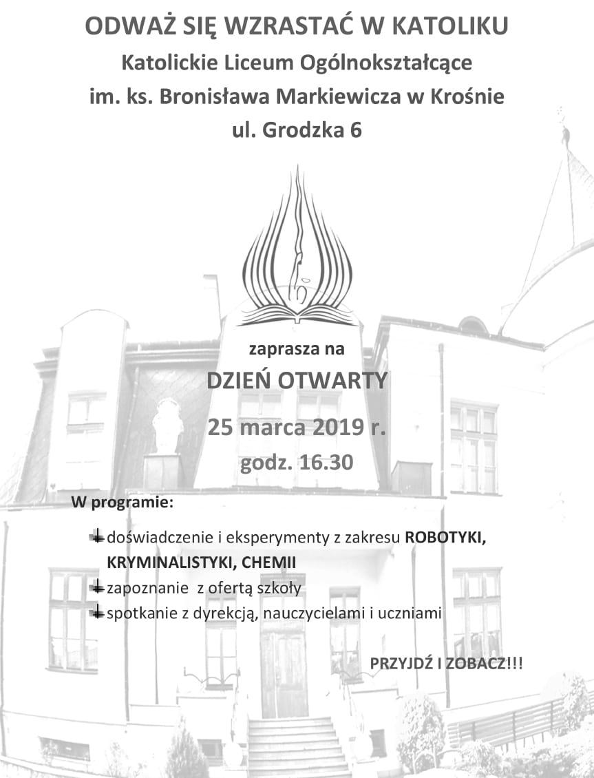 Dzień otwarty w Katolickim Liceum Ogólnokształcącym w Krośnie
