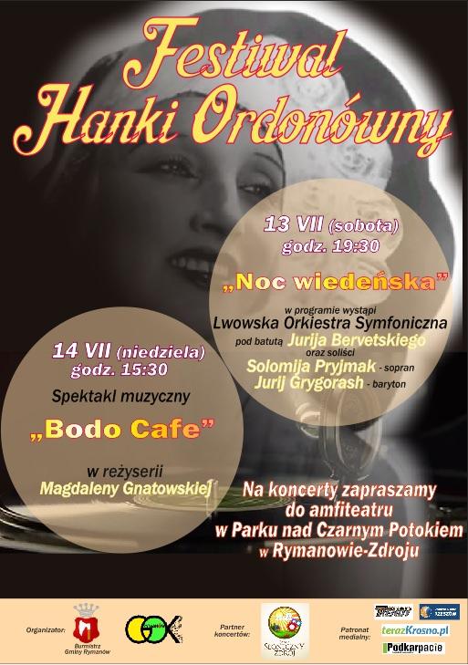 Festiwal Hanki Ordonówny w Rymanowie-Zdroju