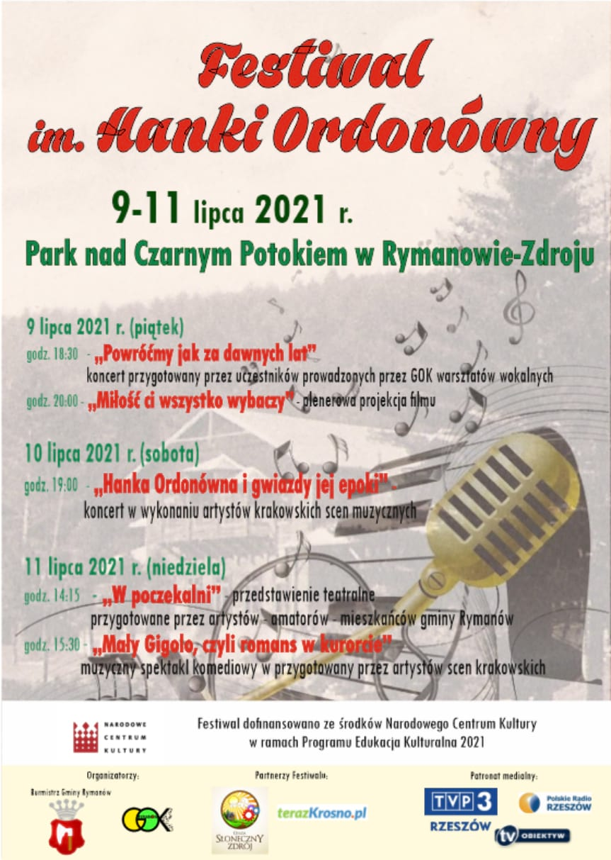 Festiwal im. Hanki Ordonówny w Rymanowie-Zdroju