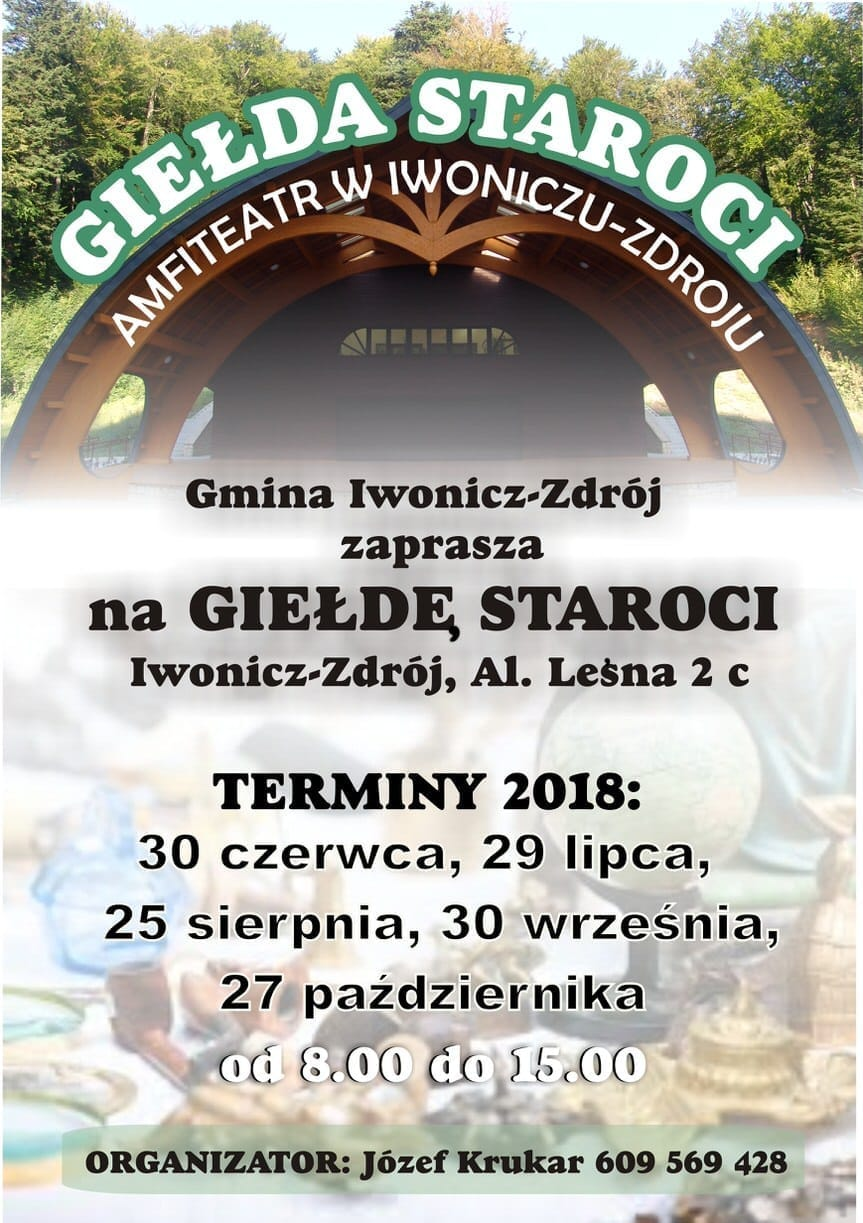 Giełda staroci w Iwoniczu-Zdroju