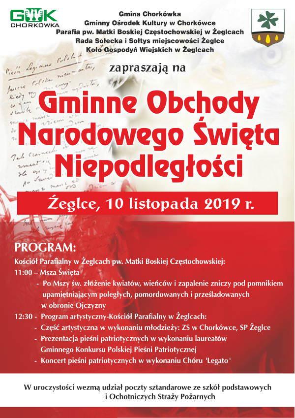 Gminne Obchody Narodowego Święta Niepodległości w Żeglcach