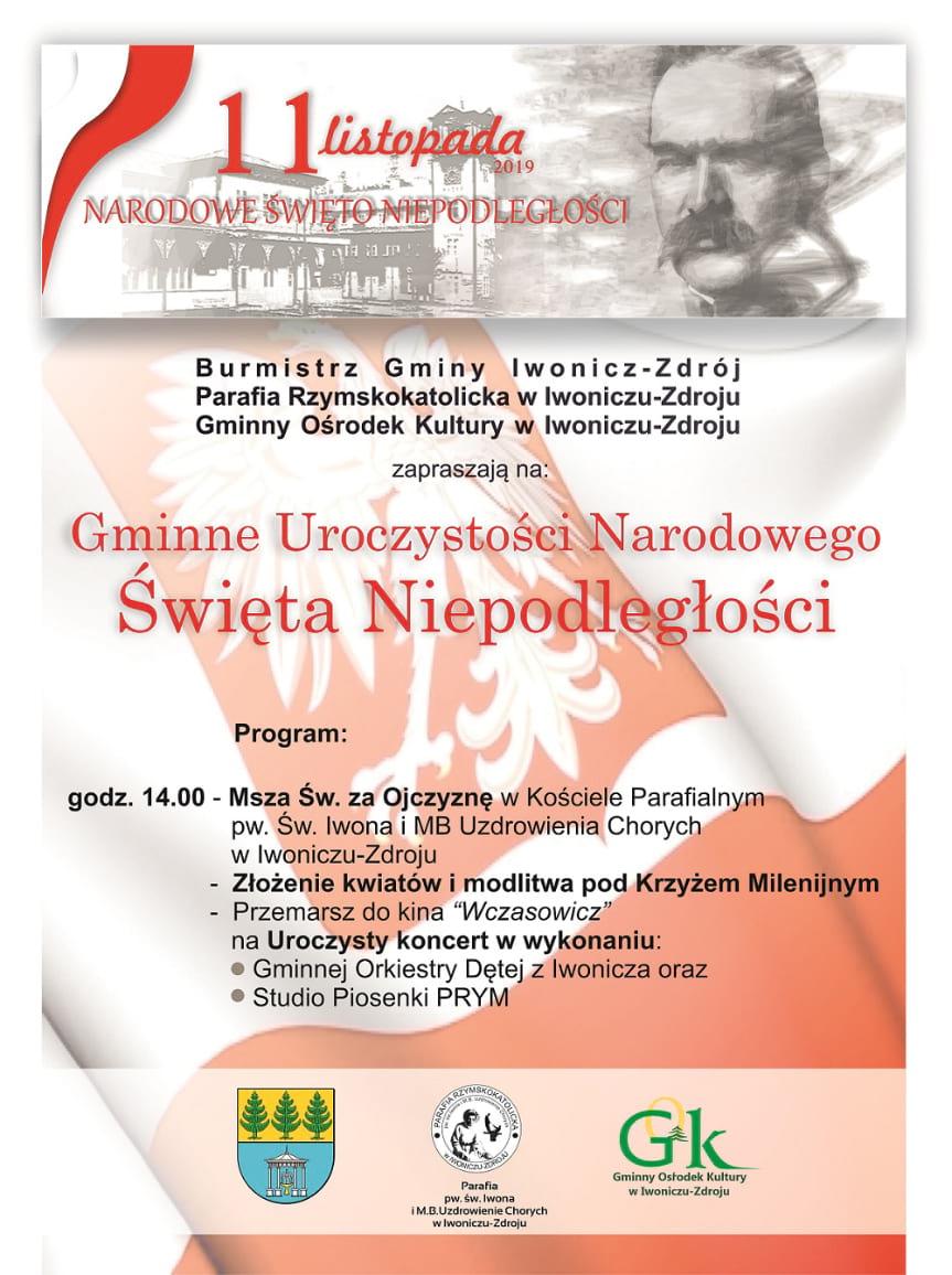 Gminne Uroczystości Narodowego Święta Niepodległości w Iwoniczu-Zdroju
