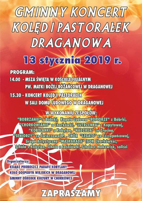 Gminny Koncert Kolęd i Pastorałek w Draganowej
