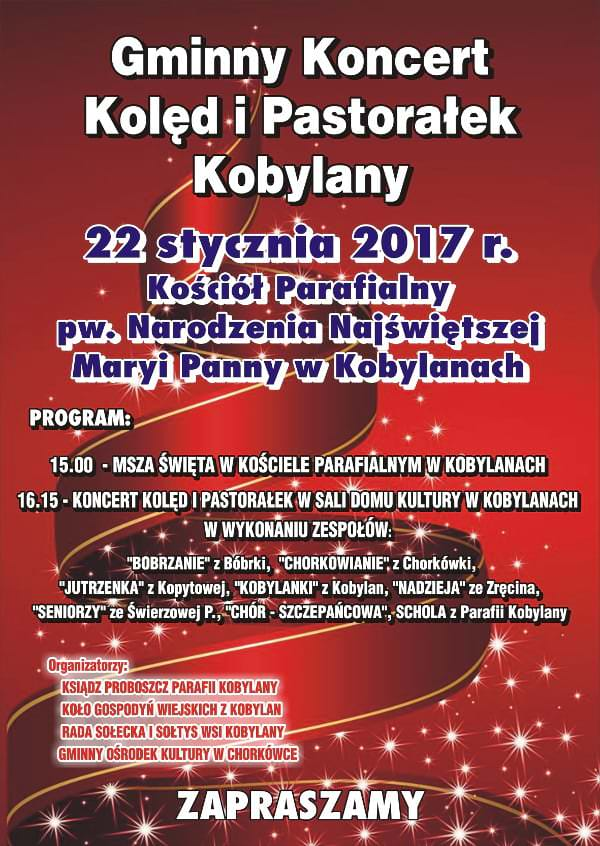 Gminny Koncert Kolęd i Pastorałek w Kobylanach