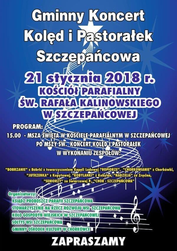 Gminny Koncert Kolęd i Pastorałek w Szczepańcowej