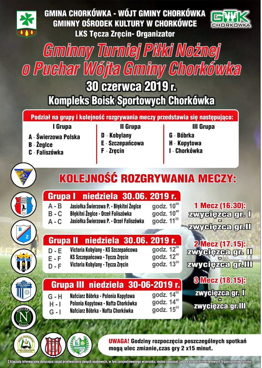 Gminny Turniej Piłki Nożnej o Puchar Wójta Gminy Chorkówka