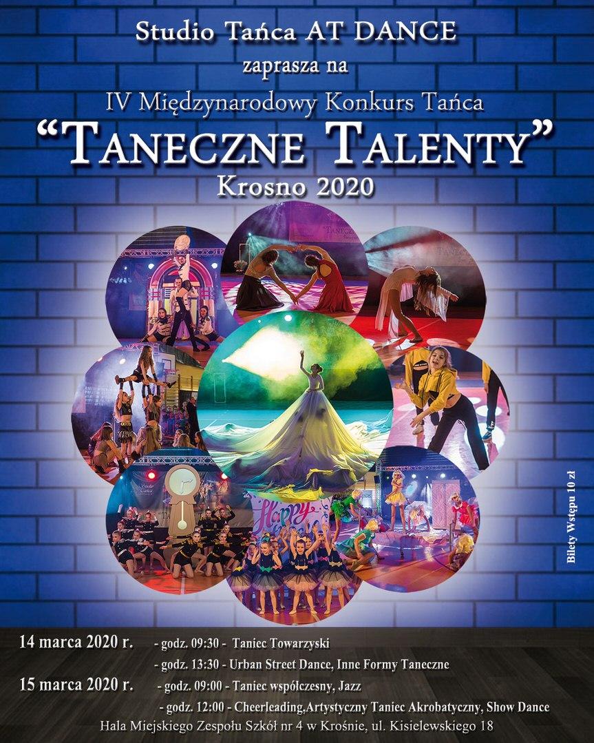 """IV Międzynarodowy Konkurs Tańca """"Taneczne Talenty"""""""
