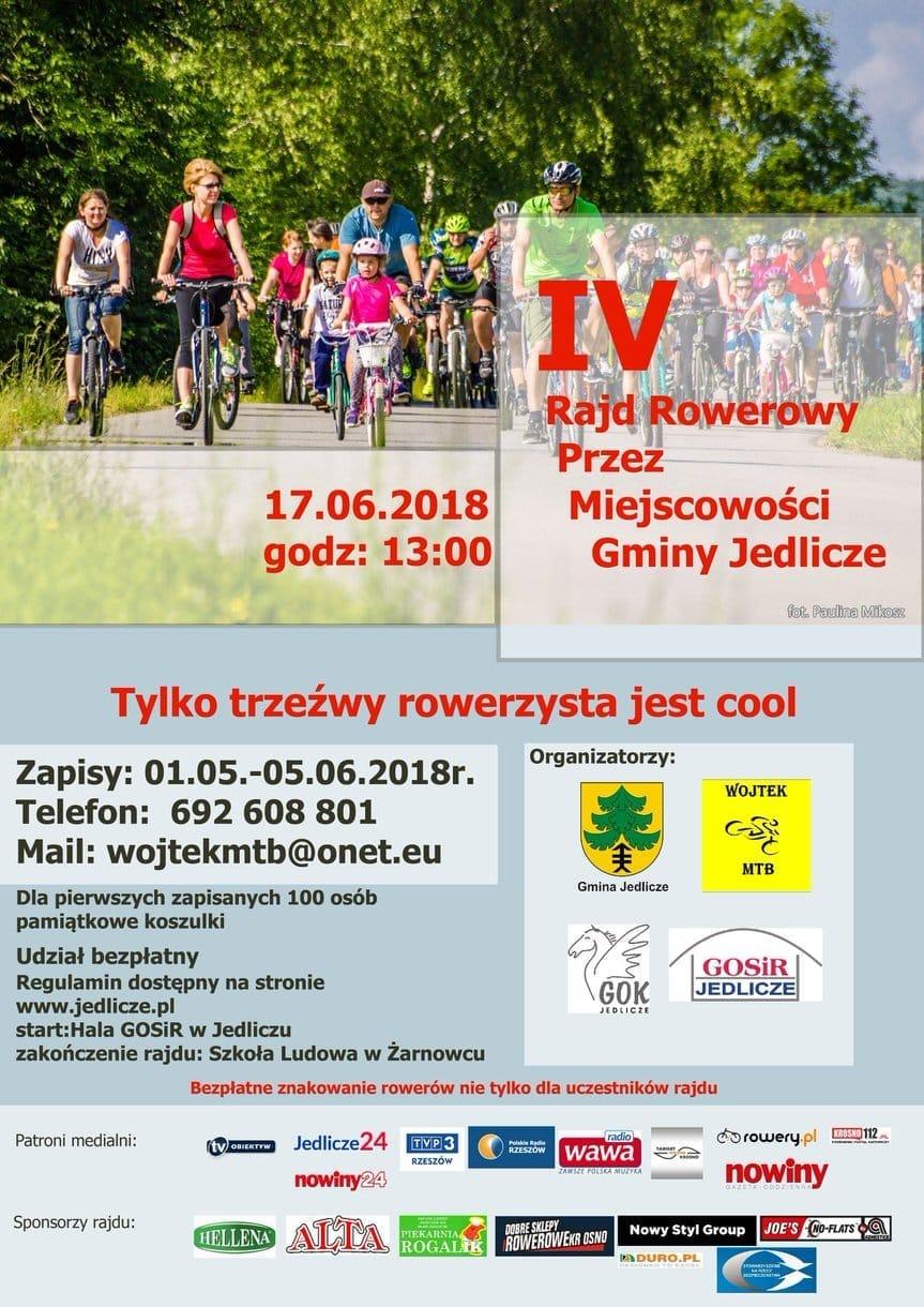 IV Rajd rowerowy przez miejscowości Gminy Jedlicze