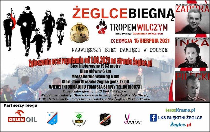 IX Bieg Pamięci Żołnierzy Wyklętych w Żeglcach