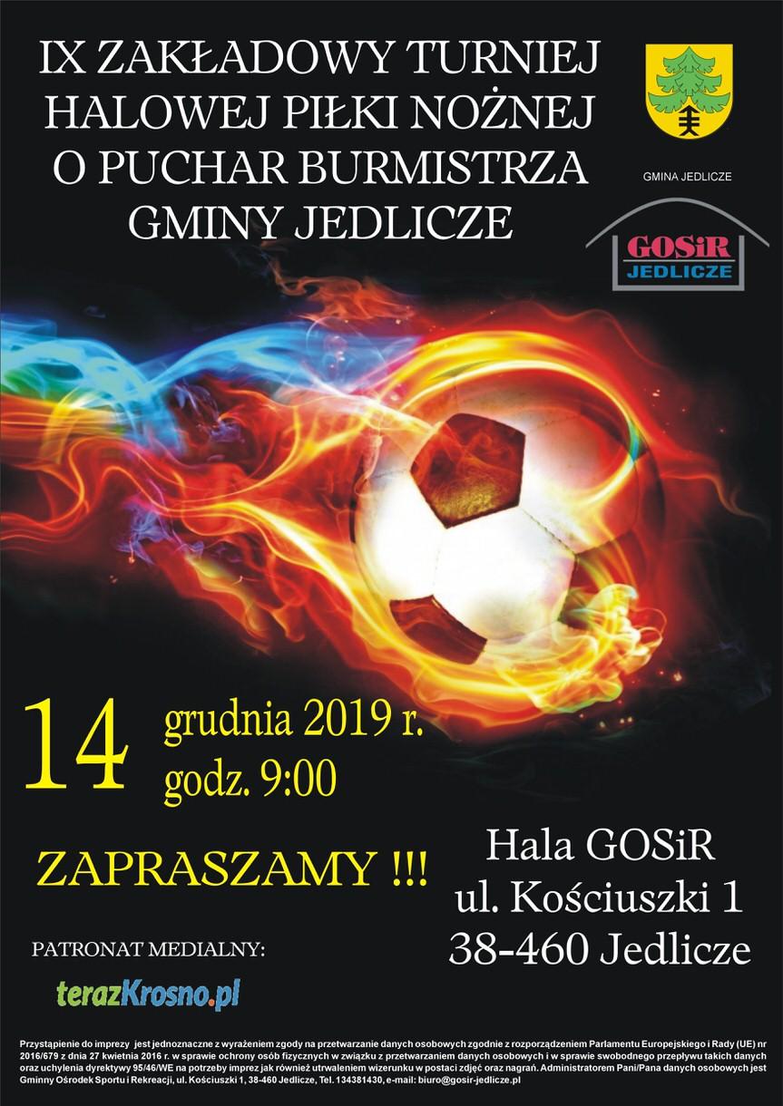 IX Zakładowy Turniej Halowy Piłki Nożnej o Puchar Burmistrza Gminy Jedlicze