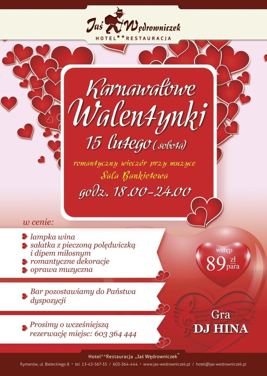 Karnawałowe Walentynki w Jasiu Wędrowniczku