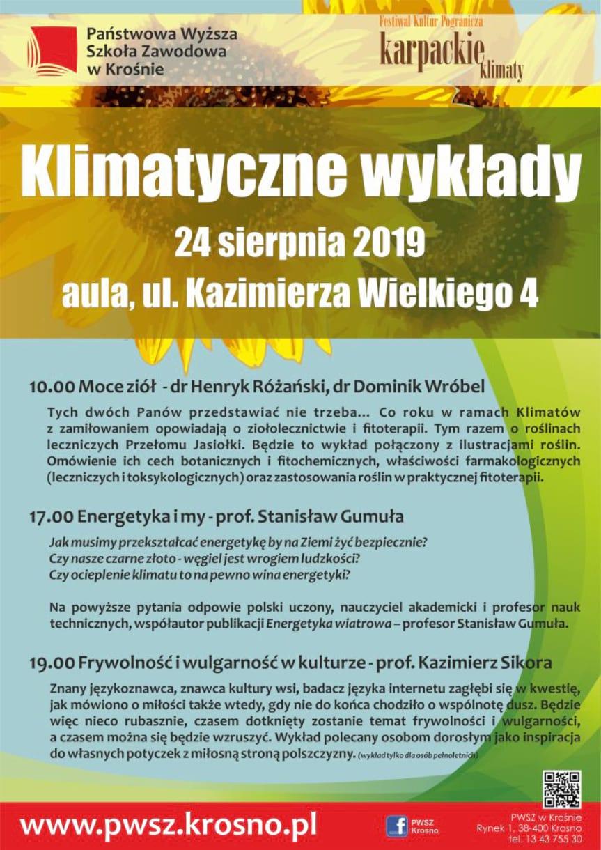 Klimatyczne wykłady w PWSZ w Krośnie