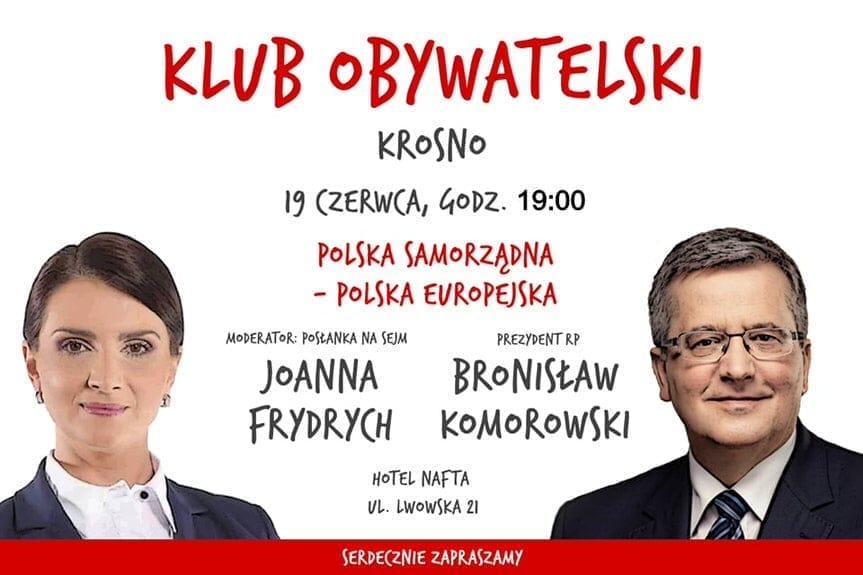 Klub Obywatelski: spotkanie z Bronisławem Komorowskim