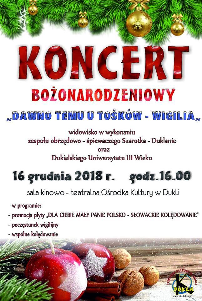 """Koncert Bożonarodzeniowy """"Dawno Temu u Tośków - Wigilia"""""""