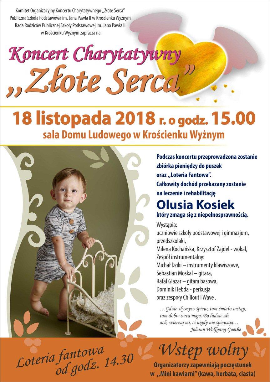 """Koncert Charytatywny """"Złote Serca"""""""