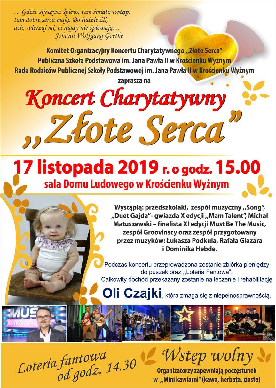 """Koncert Charytatywny """"Złote Serca"""" w Krościenku Wyżnym"""