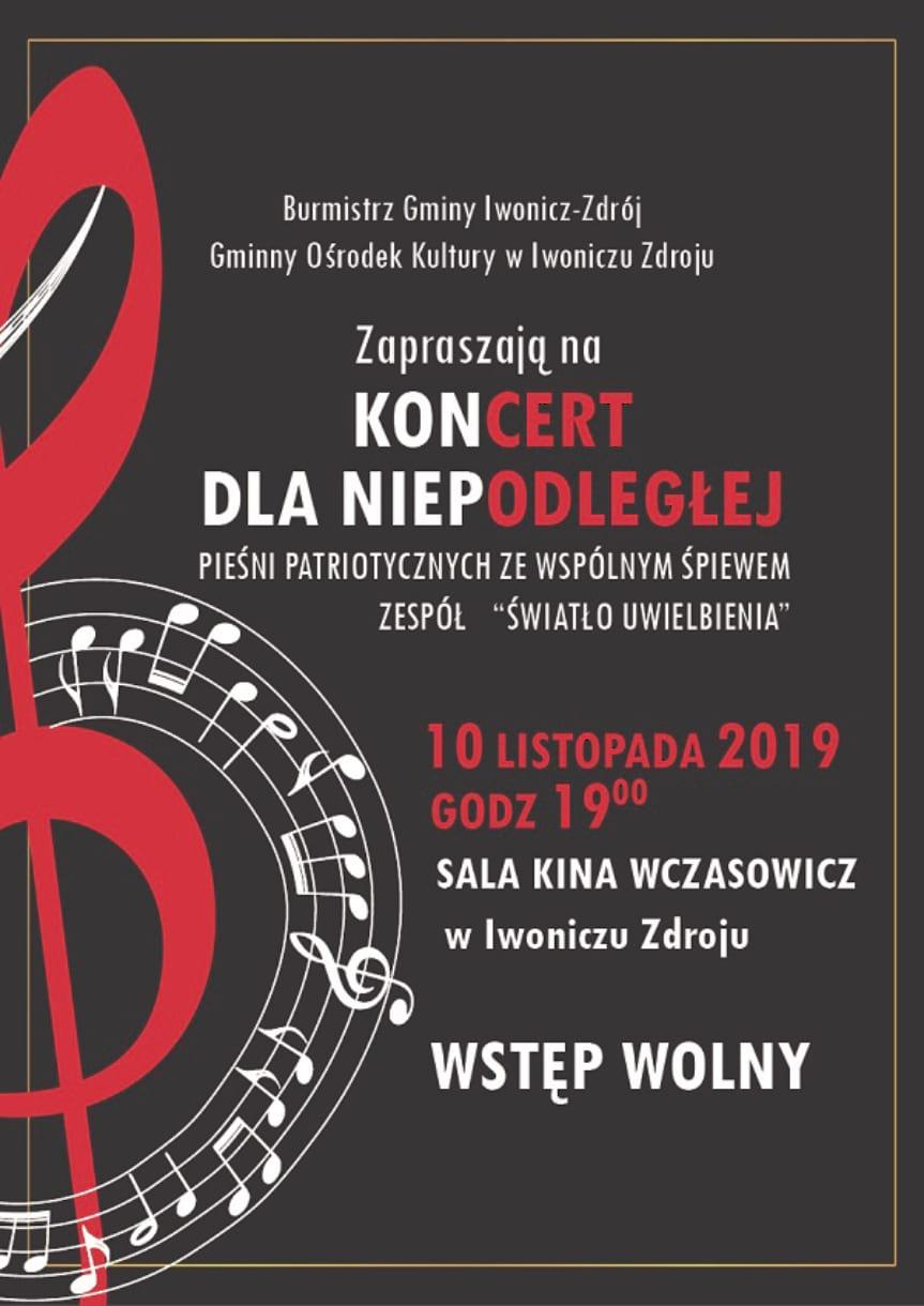 Koncert dla Niepodległej w Iwoniczu-Zdroju