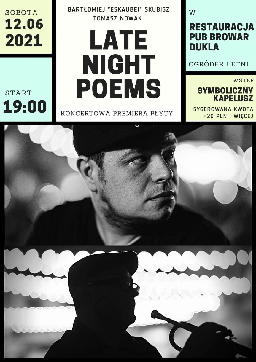 Koncert Late Night Poems w Browarze Dukla
