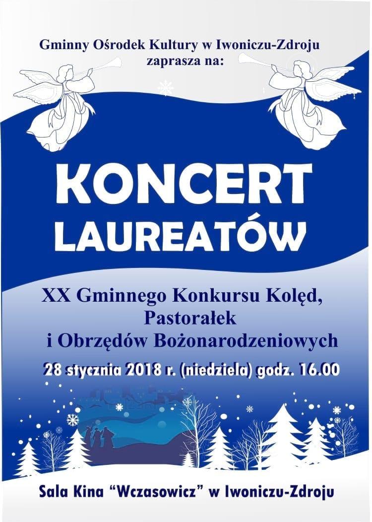 Koncert Laureatów XX Gminnego Konkursu Kolęd, Pastorałek i Obrzędów Bożonarodzeniowych