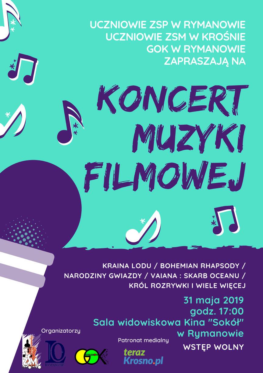 Koncert Muzyki Filmowej w Rymanowie