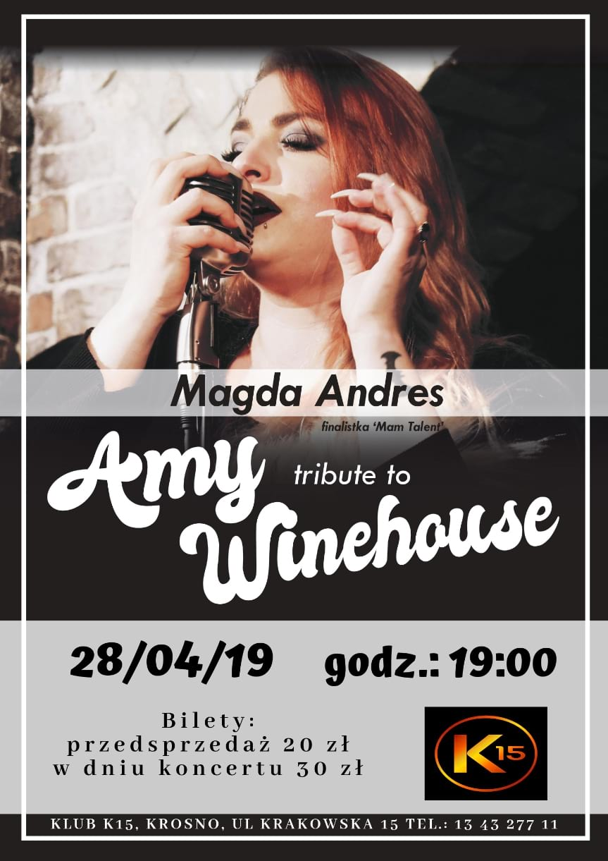 Koncert  Tribute to Amy Winehouse - Magda Andres