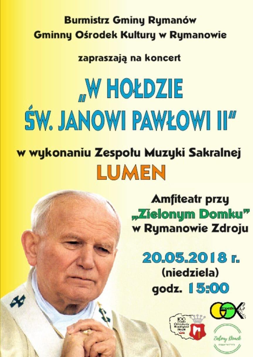 """Koncert """"W Hołdzie Św. Janowi Pawłowi II"""""""