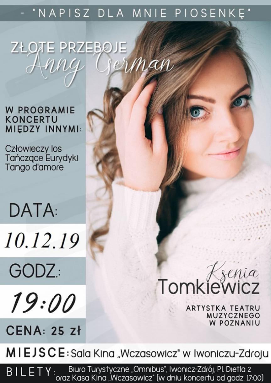 """Koncert """"Złote przeboje"""" Anny German"""