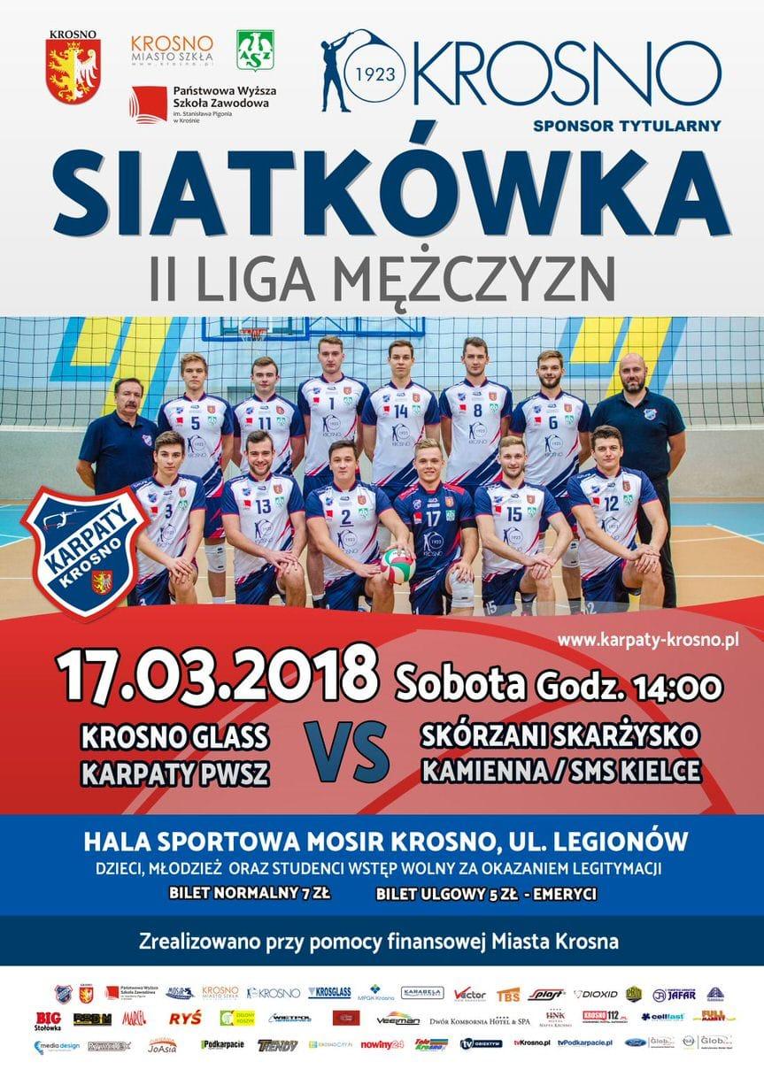 Krosno Glass Karpaty PWSZ - Skórzani Skarżysko Kamienna / SMS Kielce