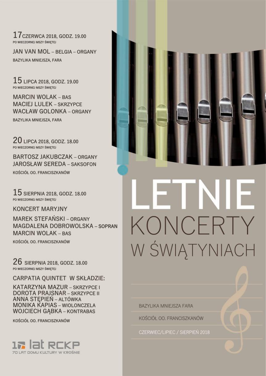 Letnie koncerty w świątyniach: Marcin Wolak, Maciej Lulek, Wacław Golonka