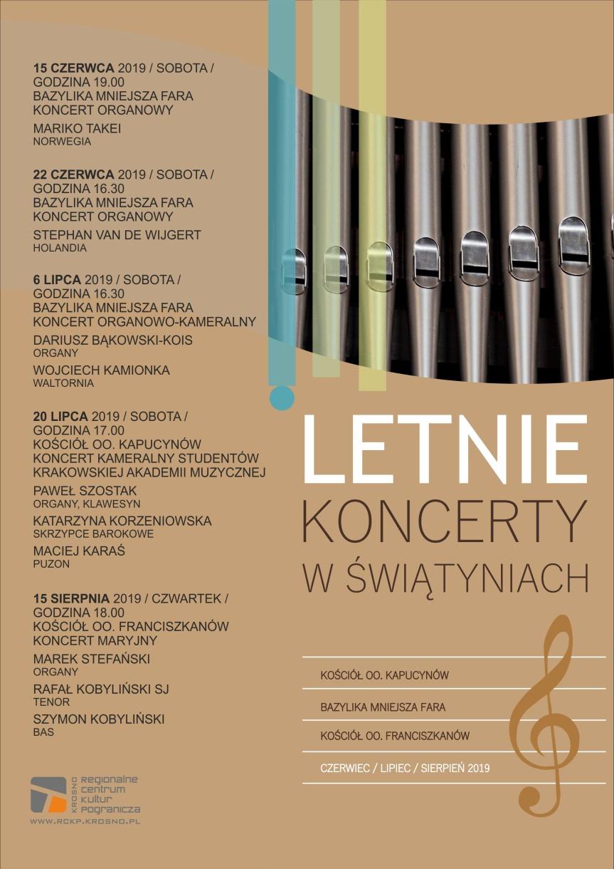 Letnie Koncerty w Świątyniach: Koncert kameralny studentów krakowskiej Akademii Muzycznej