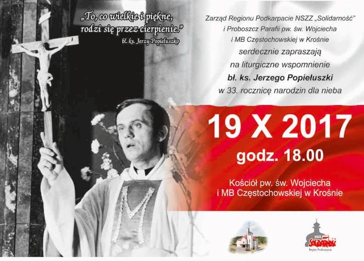 Liturgiczne wspomnienie bł. ks. Jerzego Popiełuszki