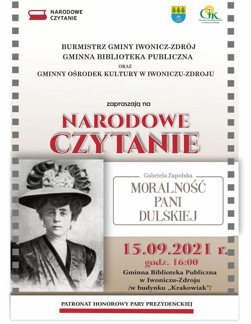 Narodowe Czytanie w Iwoniczu-Zdroju