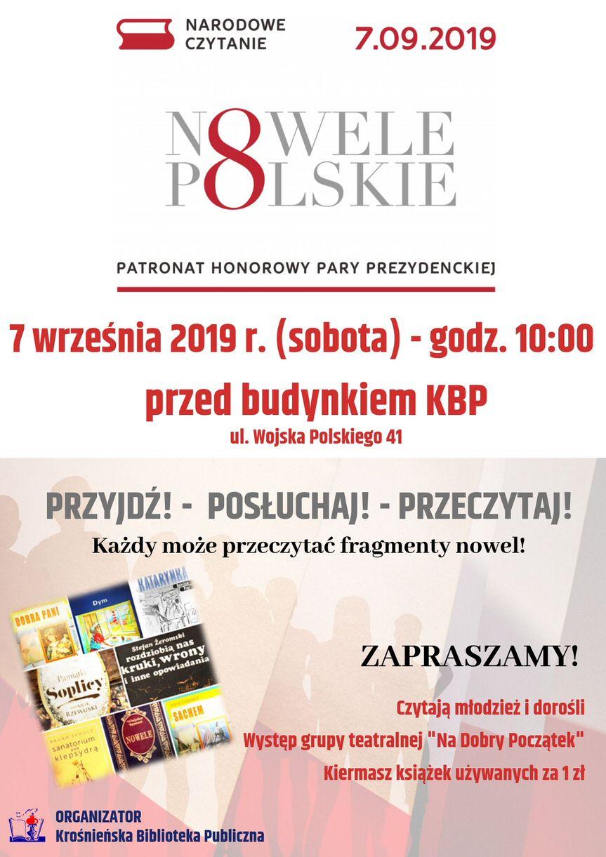 Narodowe Czytanie z Krośnieńską Biblioteką Publiczną