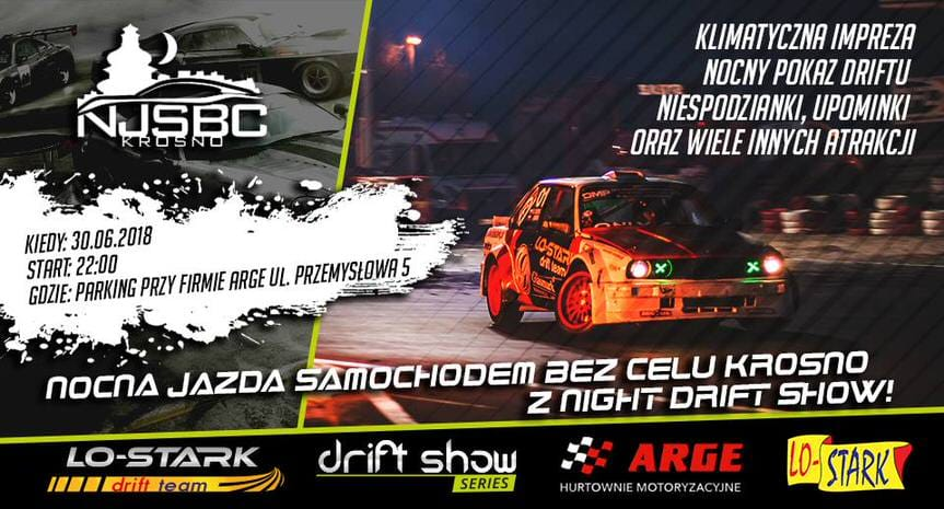 Nocna Jazda Samochodem Bez Celu Krosno z Night Drift Show