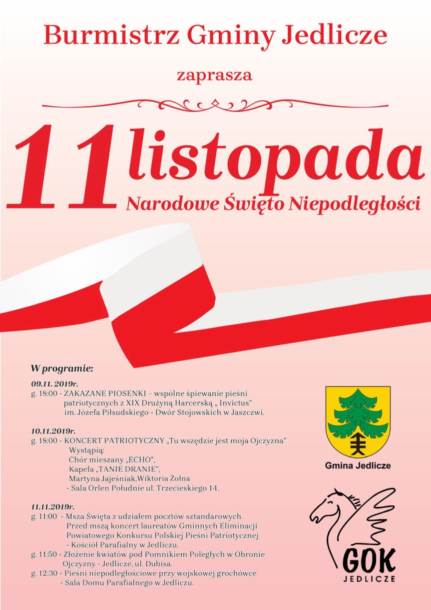 Obchody Narodowego Święta Niepodległości w Jedliczu