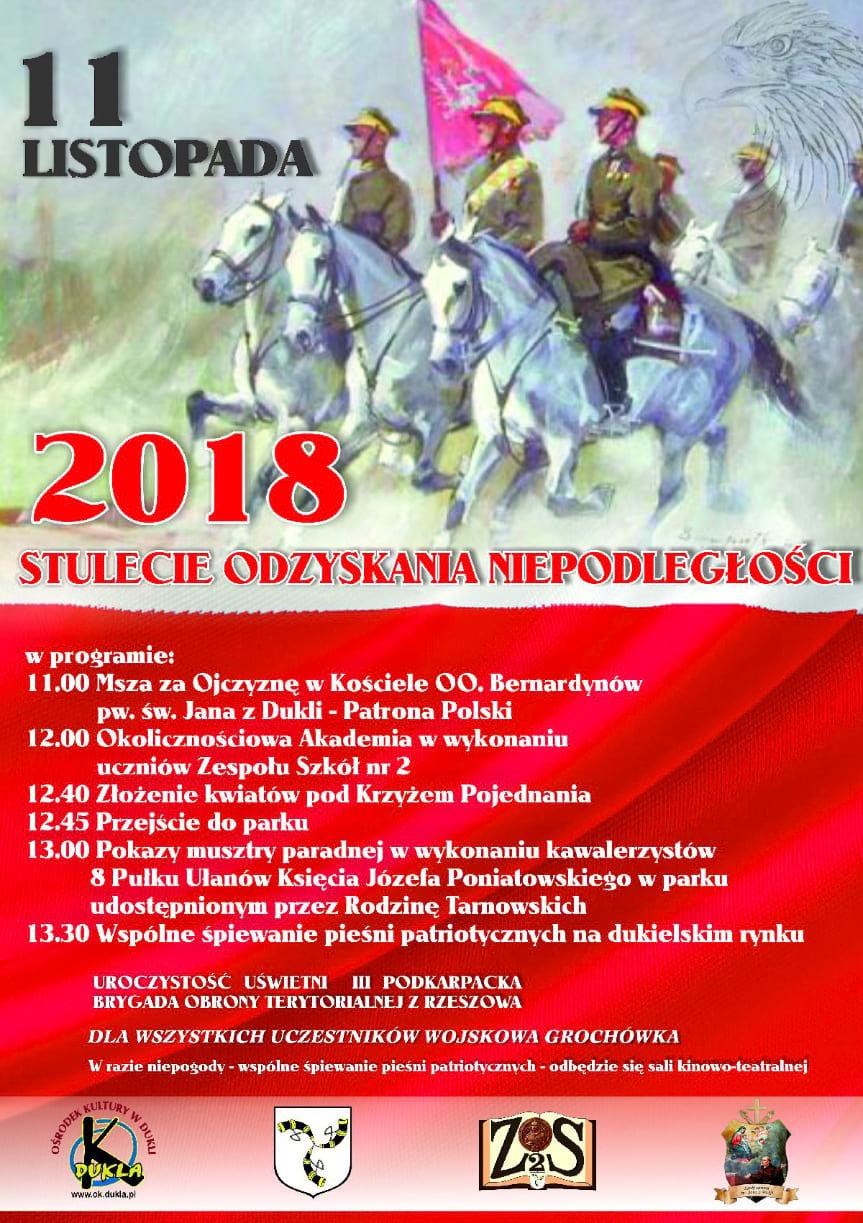 Obchody Święta Niepodległości w Dukli