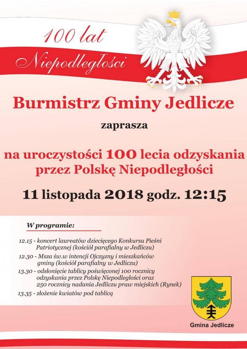 Obchody Święta Niepodległości w Jedliczu