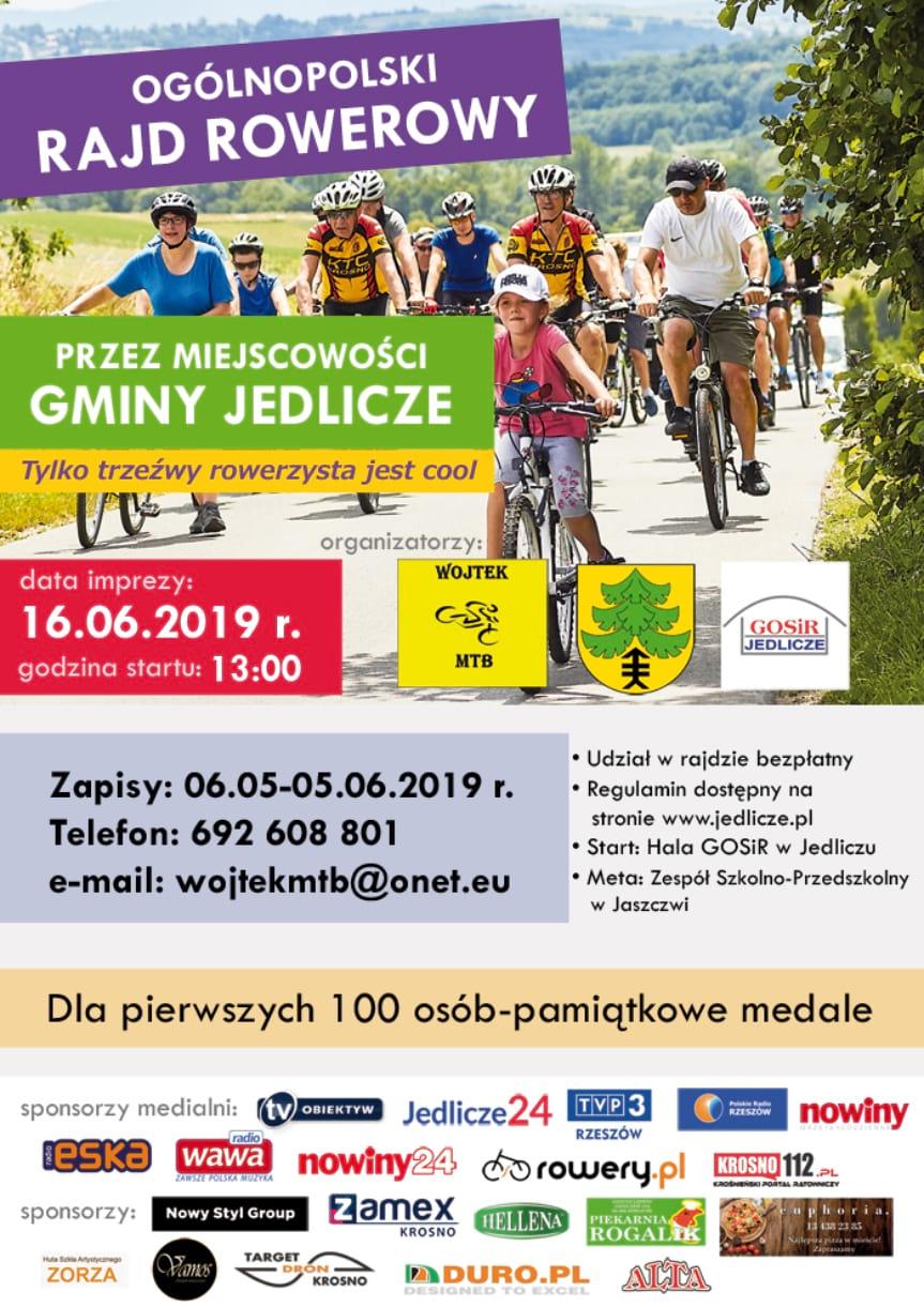 Ogólnopolski Rajd Rowerowy przez miejscowości gminny Jedlicze