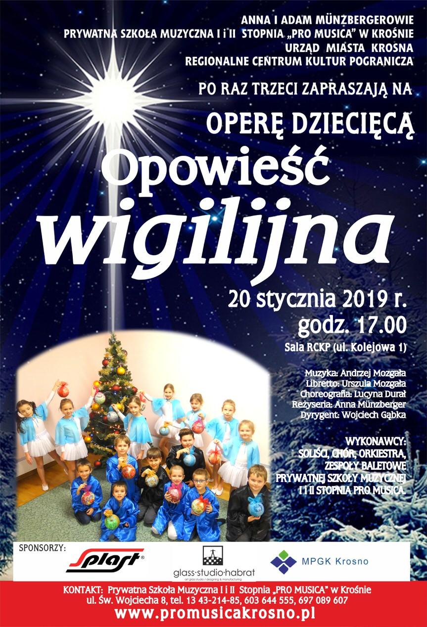 """Opera dziecięca  """"Opowieść Wigilijna"""""""